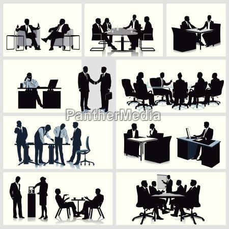 desenvolvimento e reuniao no escritorio