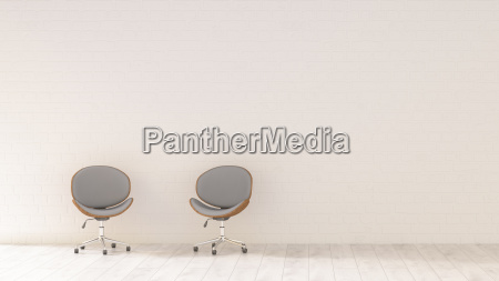 duas cadeiras de escritorio em uma