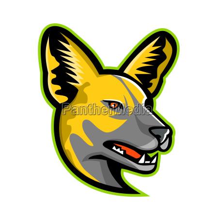 african wild dog mascot