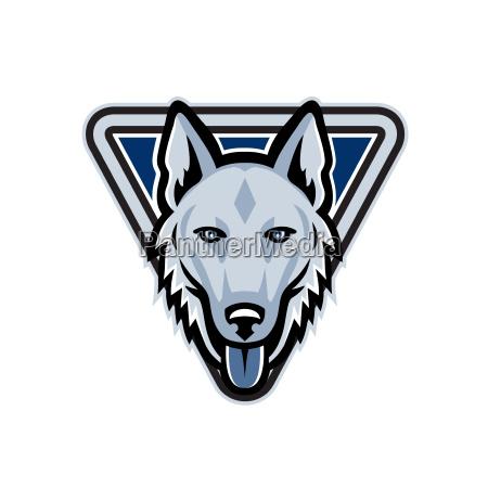police dog triangle mascot