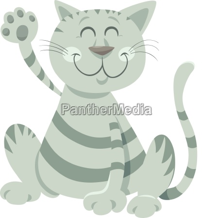 engracado gato tabby cartoon animal personagem