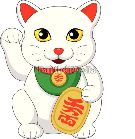 japones engracado prosperidade atrevido bonitinho gato