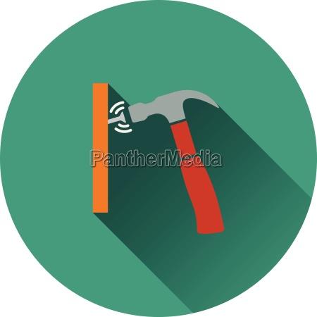 icone do martelo bater a unha