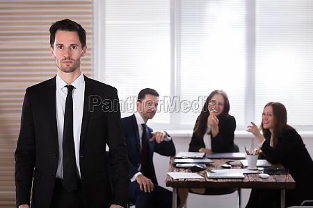 portrait of a unhappy businessman