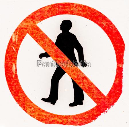 segno di proibizione accesso proibito per
