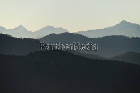 azul rural montanhas austria neblina vistas