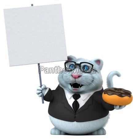 gato, do, divertimento-ilustração, 3d - 25396018