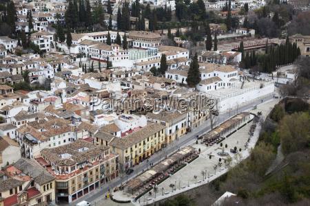udsigt over granada fra alhambra granada
