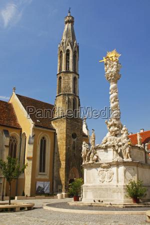 trinity column and the goat church