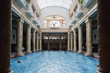 pool at the gellert baths budapest