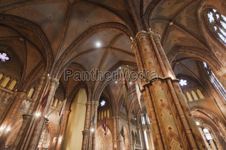 interior of the matthias church budapest