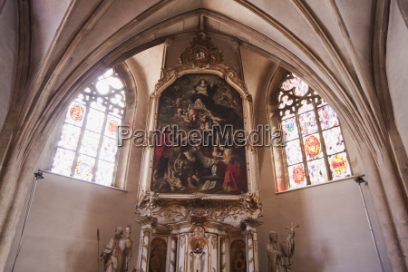 baroque painting over the high altar