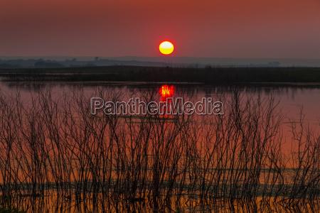 luz cor horizonte por do sol