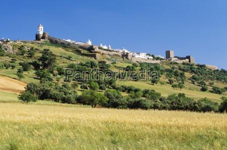 hilltop fortified village of monsaraz portugal