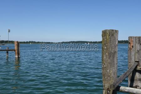 chiemsee prien jetty jetty steig kai