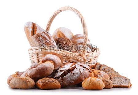 composicao com produtos assorted da padaria