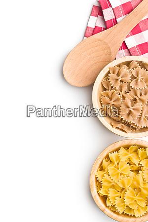 wholewheat farfalle pasta tasty italian pasta