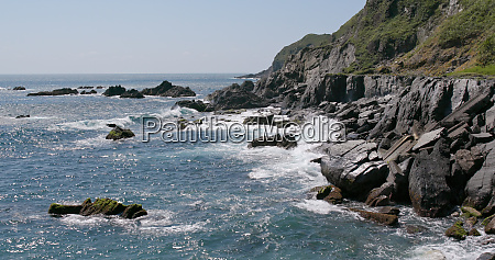 azul cidade fluxo pedra aspero praia