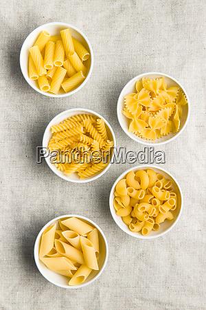 various types of italian pasta