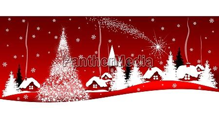 estrela de brilho do natal sobre