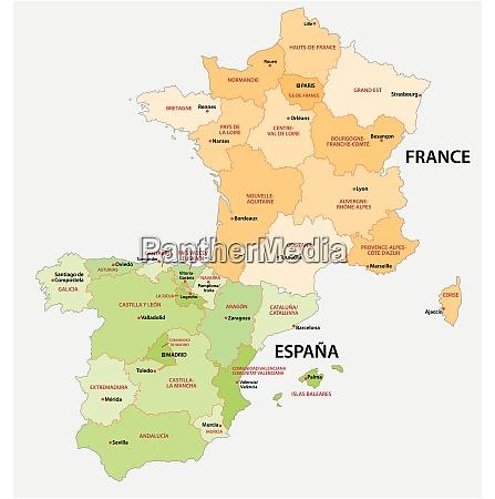 mapa administrativo e politico de espanha