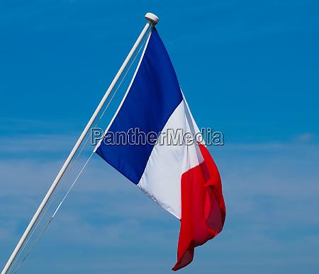 bandeira francesa da franca sobre o