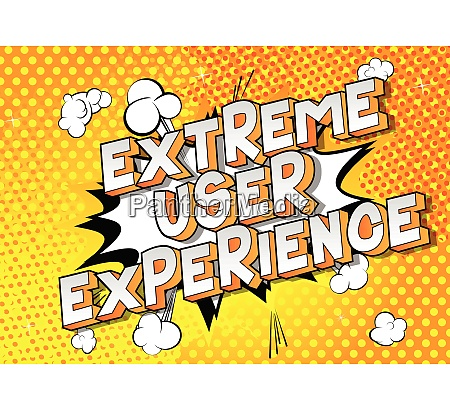 extreme user experience vector illustrated