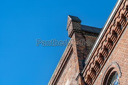 old brick warehouse detail in speicherstadt