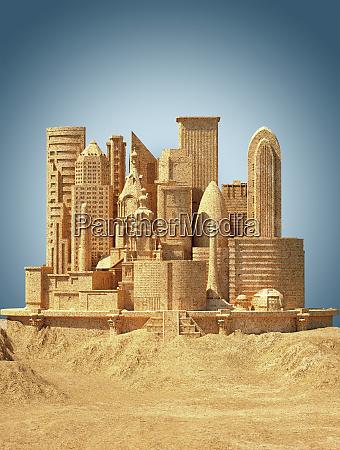 sandcastle da cidade