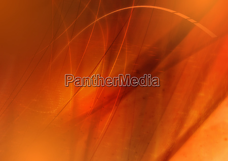 abstract image of orange swirling lines