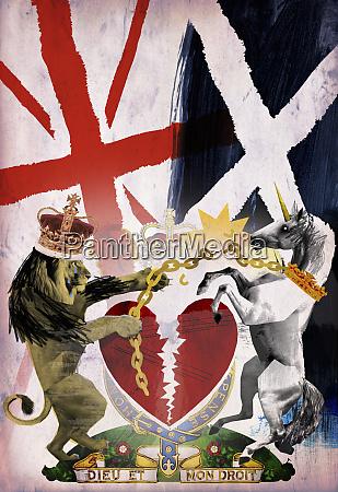 colagem escocesa da independencia com escocia