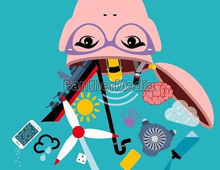 estudante stem estudando ciencia tecnologia engenharia