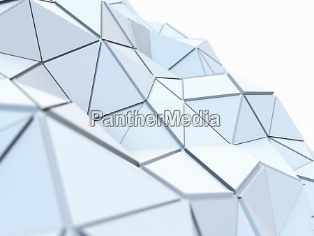 curvando a baixa superficie poli textured
