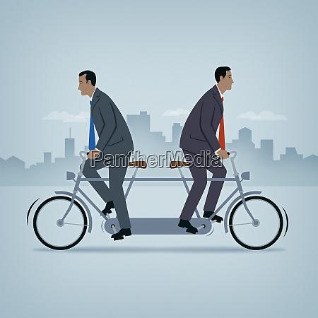dois homens de negocios que vao