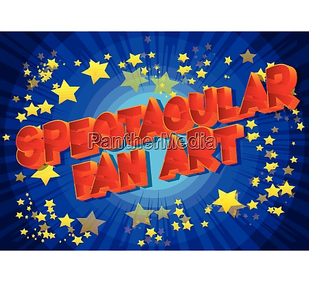 spectacular fan art vector illustrated