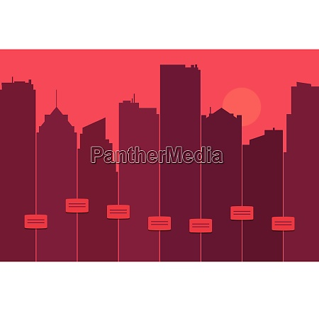 silhueta de uma skyline da cidade