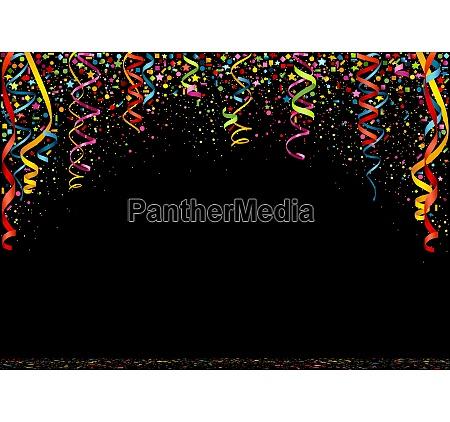 fundo colorido do confetti do ano
