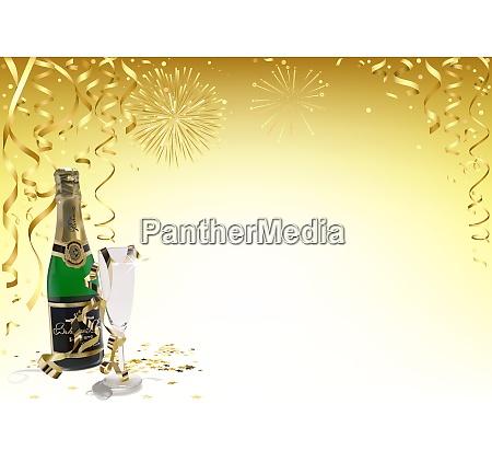 fundo dourado do ano novo feliz