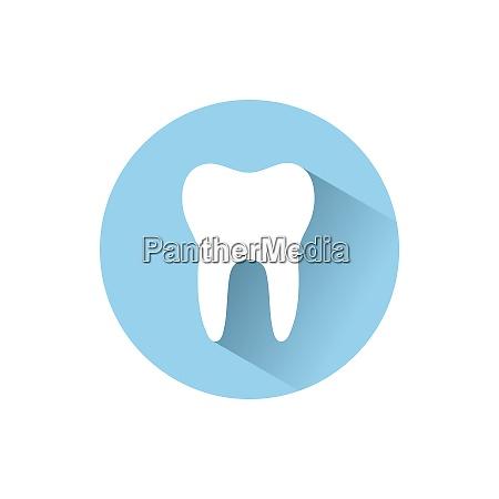 Icone liso do dente com sombra
