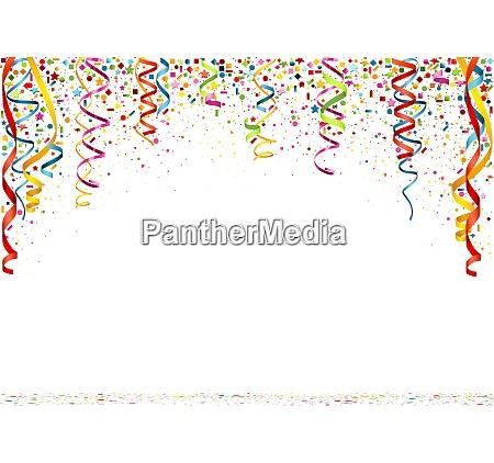fundo colorido do confetti