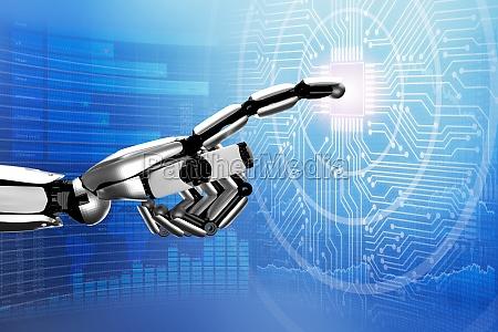 robo circuito ai inteligencia artificial digital