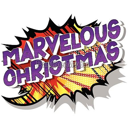 marvelous christmas comic book style
