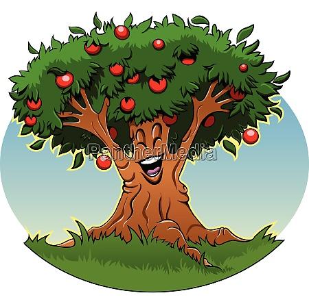 desenhos animados da arvore de apple