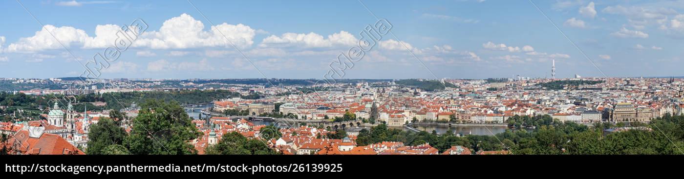 panorama, of, prague, with, the, vltava - 26139925