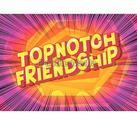 topnotch friendship comic book style