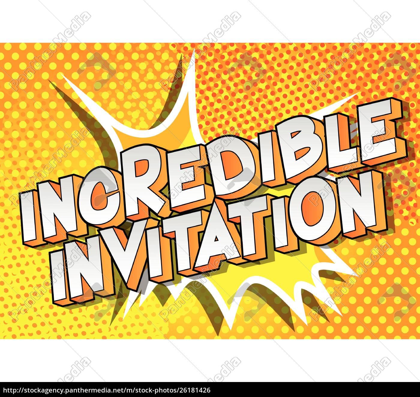 incredible, invitation, -, comic, book, style - 26181426