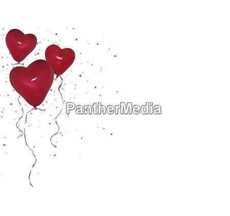 o partido vermelho do valentim balloons