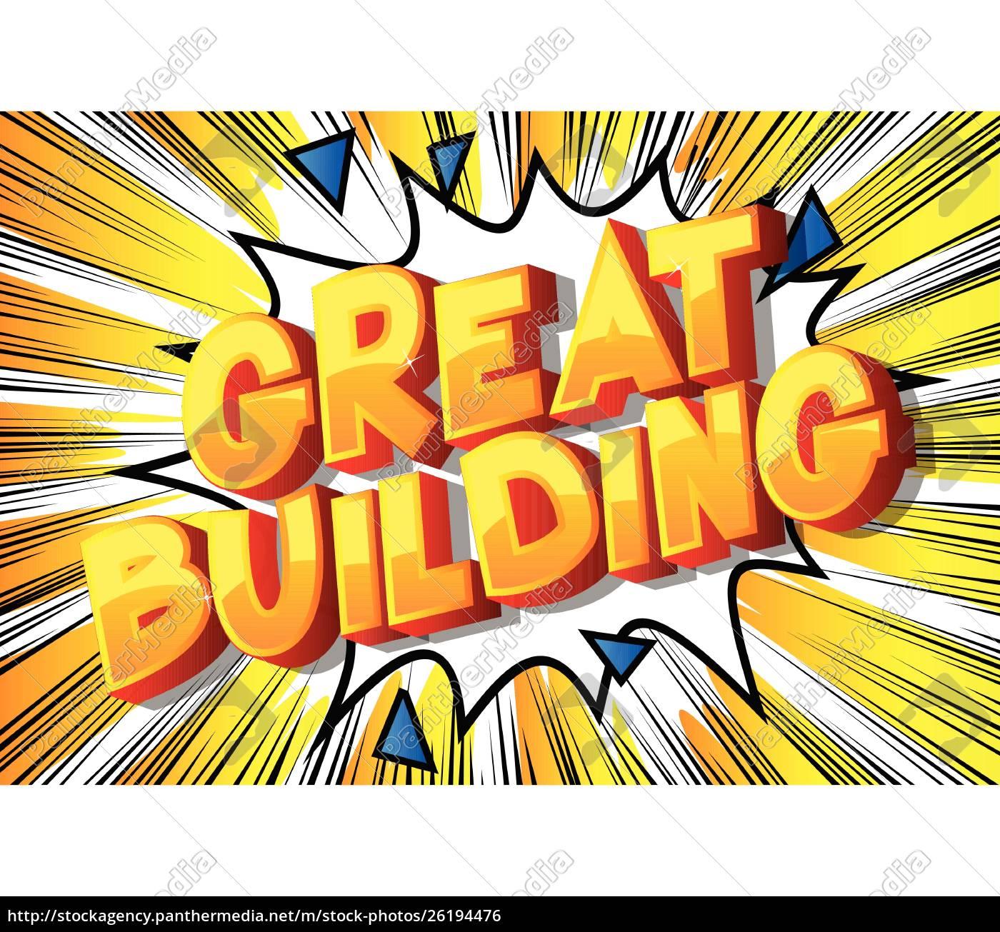 grande, edifício-palavras, da, banda, desenhada, do - 26194476