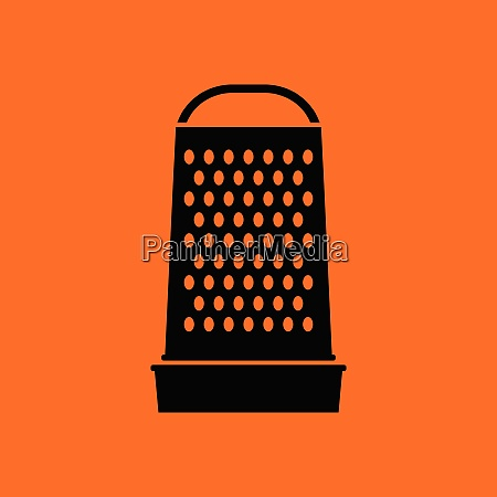 kitchen grater icon orange background with