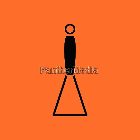 potato masher icon orange background with